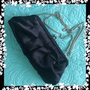 La Regale Black Clutch Shoulder Bag VIntage NWOT